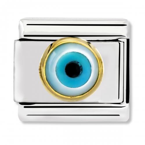 Nomination Classic Gold Greek Eye Link Charm