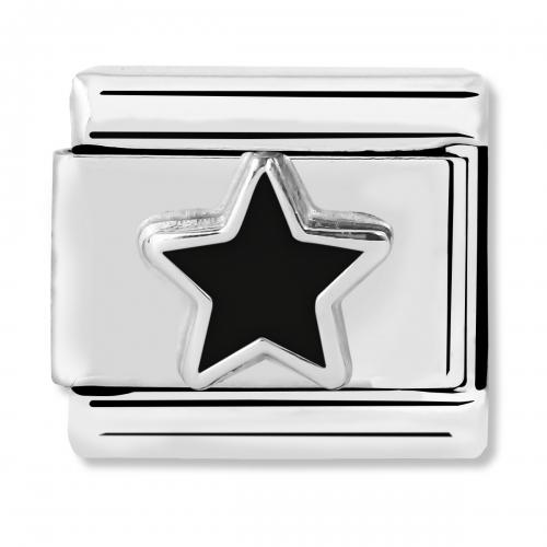 Nomination Classic Black Star Link Charm