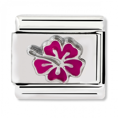 Nomination Classic Honolulu Pink Hibiscus Link Charm
