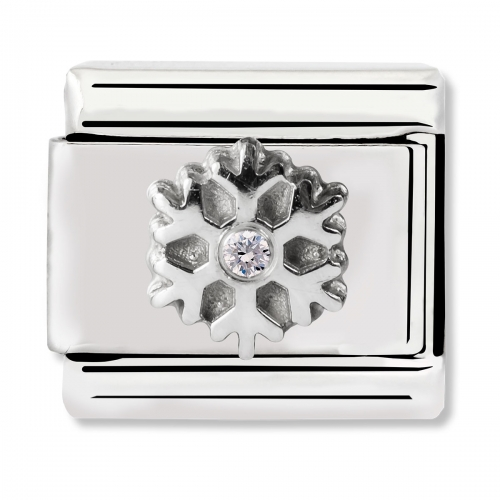 Nomination Classic Christmas Snowflake Steel Link Charm