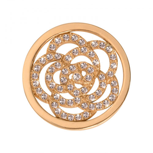 Nikki Lissoni Sparkling Flower - Small Gold Plated Coin