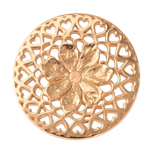 Nikki Lissoni Flower With Love - Medium Gold Plated Coin