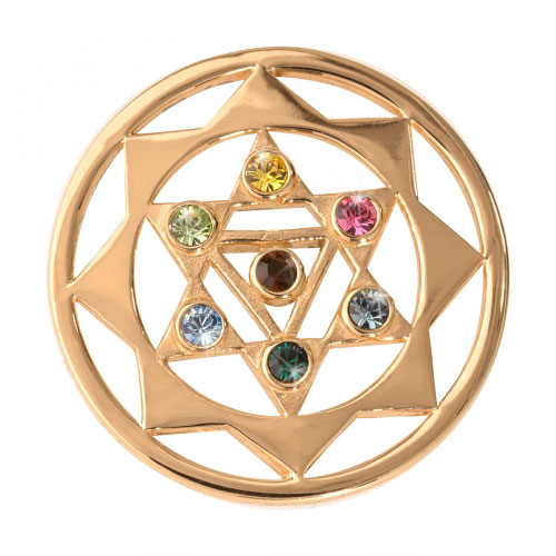 Nikki Lissoni The 7 Chakras - Medium Gold Plated Coin