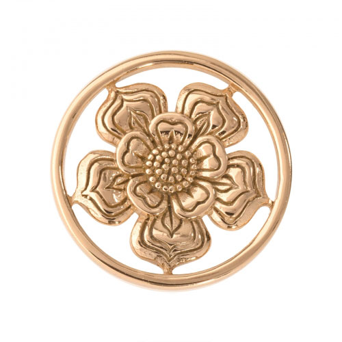 Nikki Lissoni Lovely Flower - Small Gold Plated Coin