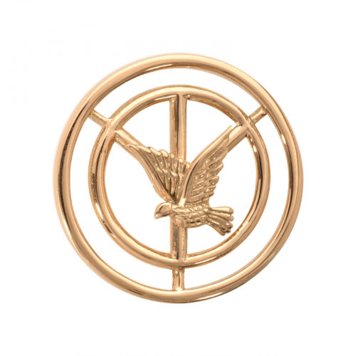 Nikki Lissoni Peace Dove - Small Gold Plated Coin