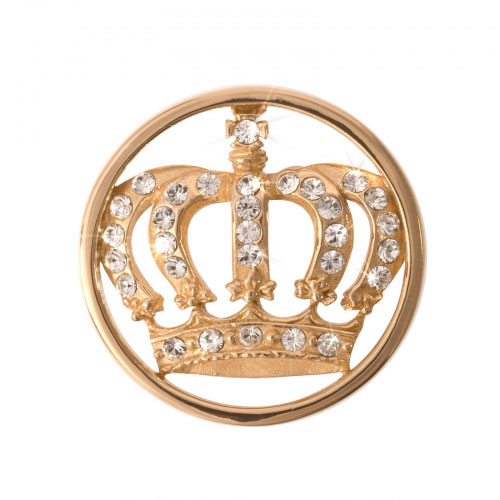 Nikki Lissoni Royal Crown - Small Gold Plated Coin