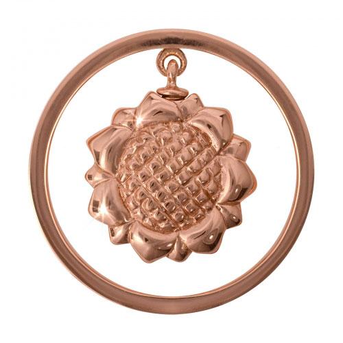 Nikki Lissoni My Sunflower - Medium Rose Gold Plated Coin