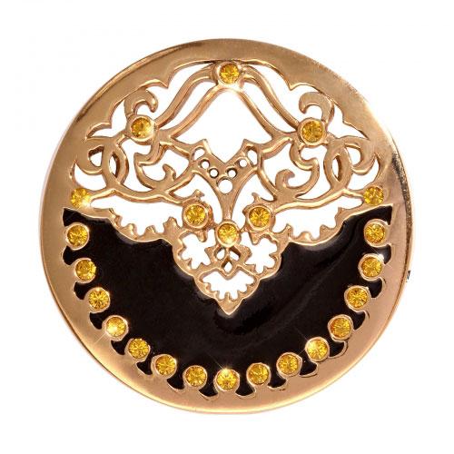 Nikki Lissoni Black Velvet - Medium Gold Plated Coin