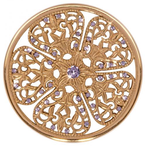 Nikki Lissoni Flower Fantasy - Large Gold Plated Coin