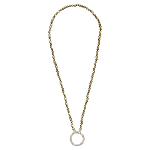 Nikki Lissoni 'Titanium Colour' 48cm Silver Plated Beaded Necklace
