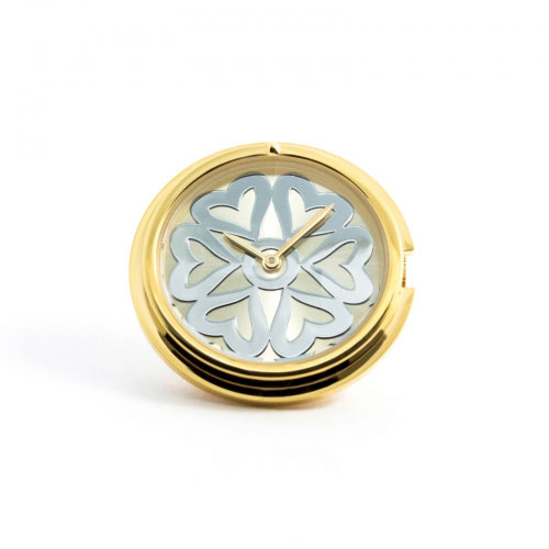 Timebeads 'Hearts' Medium Gold Watch Coin