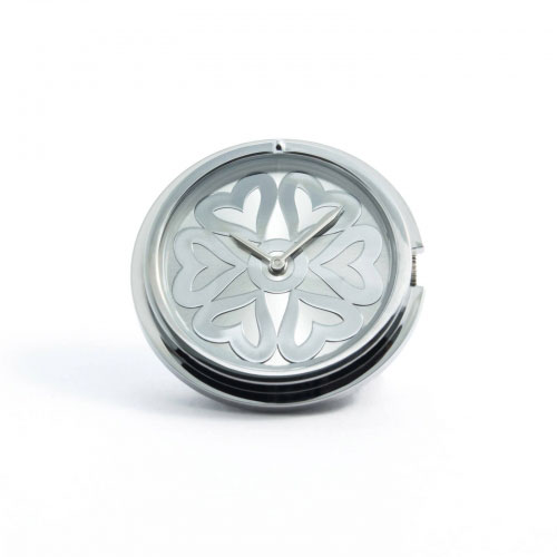 Timebeads 'Hearts' Medium Silver Watch Coin