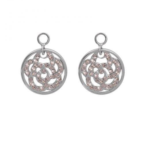Nikki Lissoni 'Sparkling Flower' 14mm Silver Plated Earring Coins