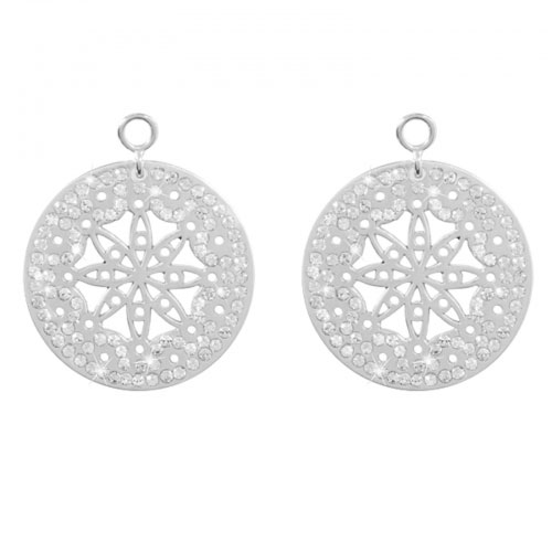 Nikki Lissoni 'Vanilla Sky' 24mm Silver Plated Earring Coins