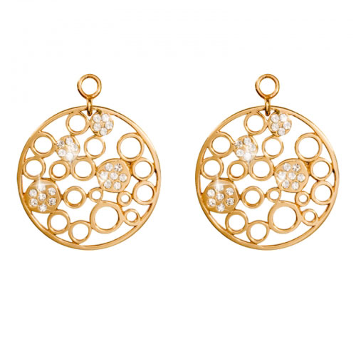 Nikki Lissoni 'Snowballs In Winter' 24mm Gold Plated Earring Coins