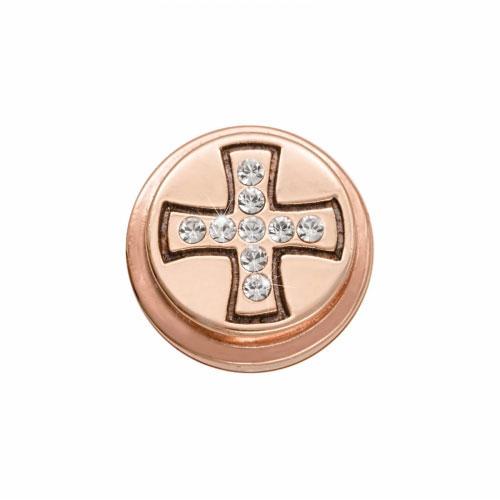 Nikki Lissoni 'Celtic Cross' Rose Gold Plated Ring Coin