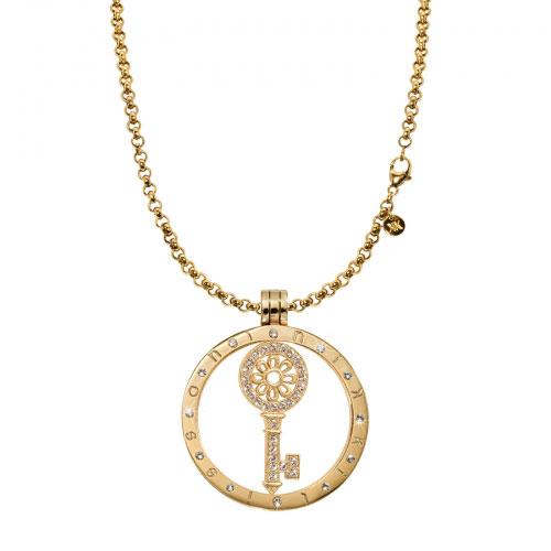Nikki Lissoni Medium Gold Key To My Heart Necklace Set