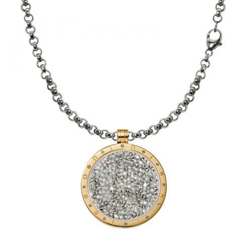 Nikki Lissoni White Rock Crystal Necklace Set