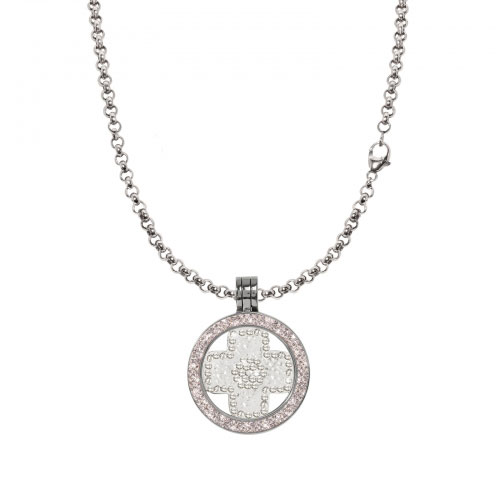 Nikki Lissoni Silver Cross Necklace Set