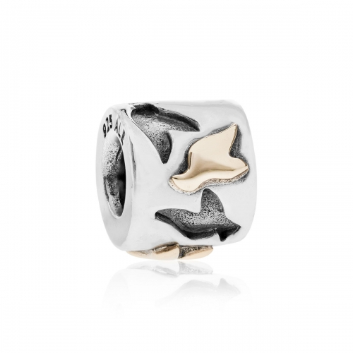 Pandora Love Birds Silver & 14ct Gold Charm 790415