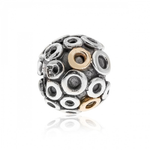 Pandora OH Silver & 14ct Charm 790325