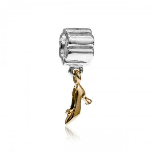 Pandora Stiletto Silver & 14ct Gold Pendant Charm 790349