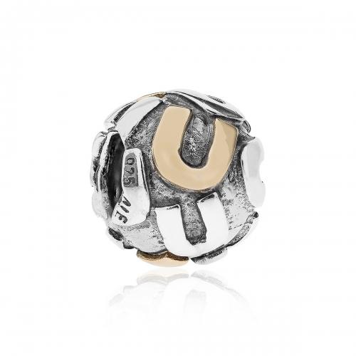 Pandora Letter U Silver & 14ct Gold Charm 790298U