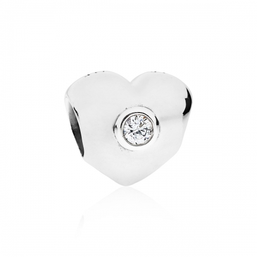 Pandora Clear Sparkling Heart Silver & Clear CZ Charm 790134CZ