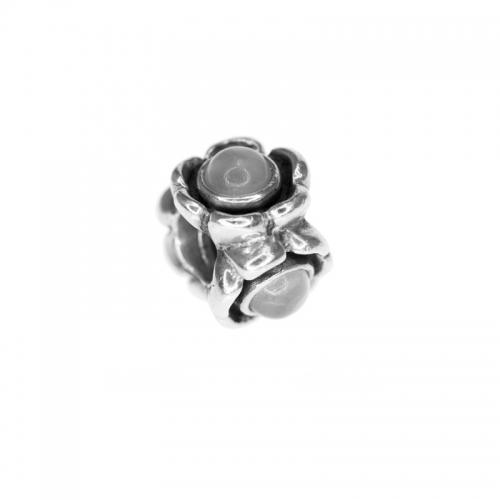 Pandora Silver and Moonstone Ribbon Charm 790279MS