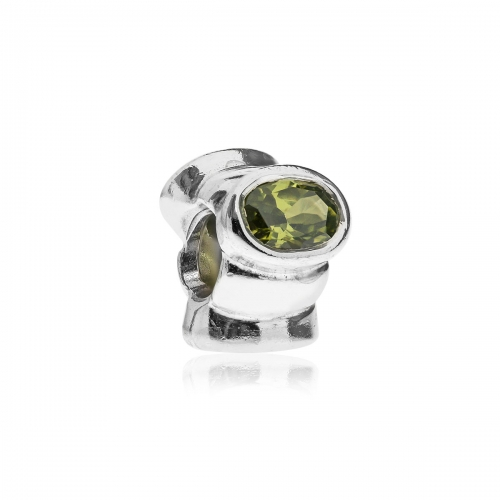 Pandora Silver  and Green Cat's Eye Charm 790289GCZ