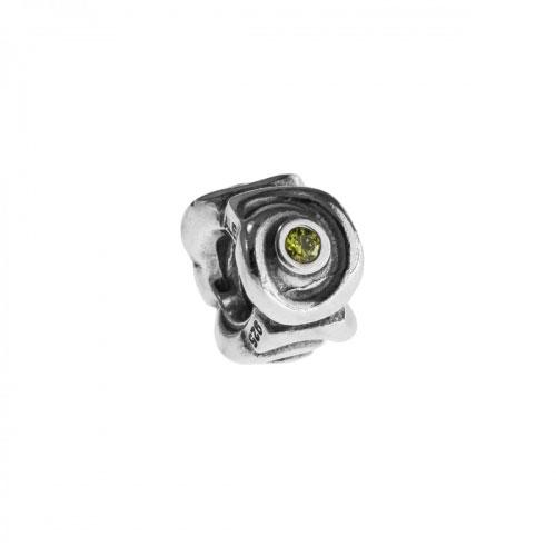 Pandora Spirals Silver & Green CZ Charm 790318CZP