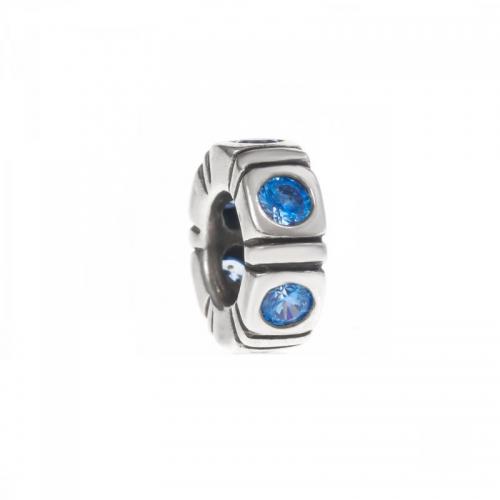 Pandora Northern Light Silver & Blue CZ Trinity Spacer 790368CZB