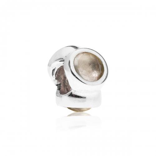 Pandora Pandora Natural Light Silver & Rose Quartz Charm 790351RQ