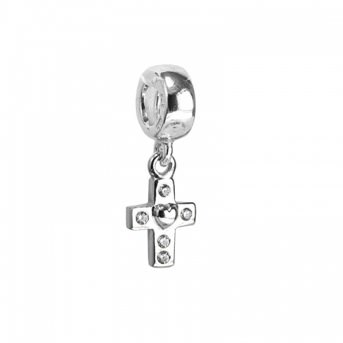 Pandora Cross Silver & Clear CZ Pendant Charm 790355CZ