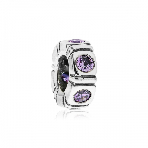 Pandora Pandora Northern Light Silver & Purple CZ Trinity Spacer 790368ACZ
