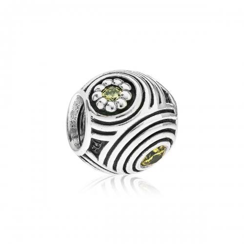 Pandora Hypnotic Silver & Yellow CZ Charm 790432YCZ