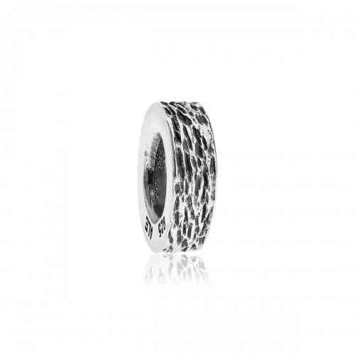 Pandora Bark Texture Silver Spacer 790181