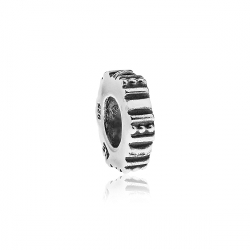 Pandora Ridged Hexagon Silver Spacer 790262
