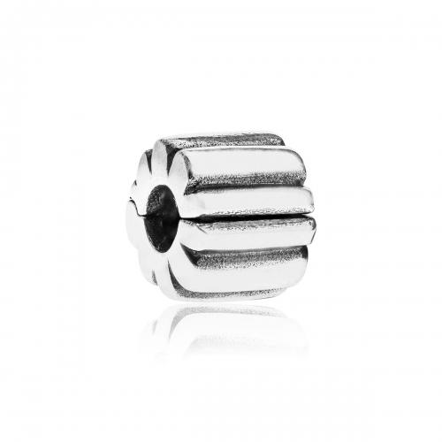 Pandora Ribbed Silver Clip 790163