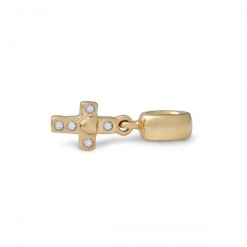 Outlet: Pandora Cross 14ct Gold & Diamond 750356D