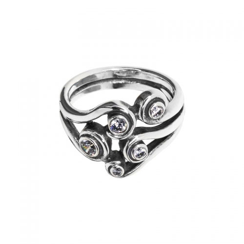 c893c2a50 Pandora Ocean Wave Ring 190388cz, Silver Rings, Pandora | JewelFirst ...