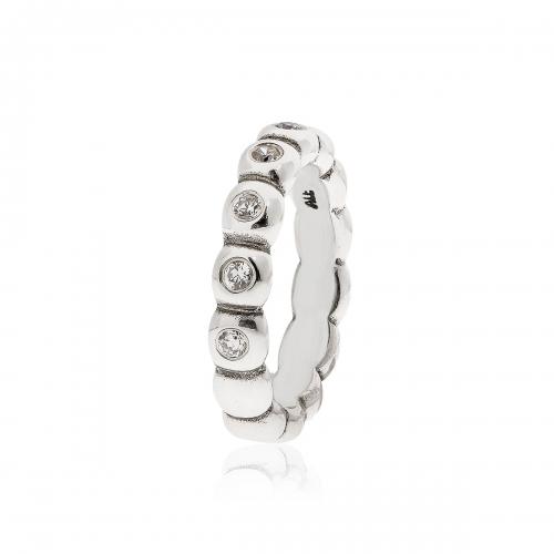 Pandora Silver & CZ Bubble Ring 190829CZ