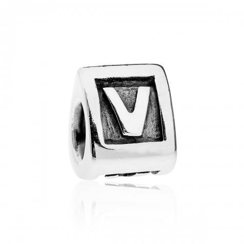 Pandora Alpha V Silver Initial Charm 790323V