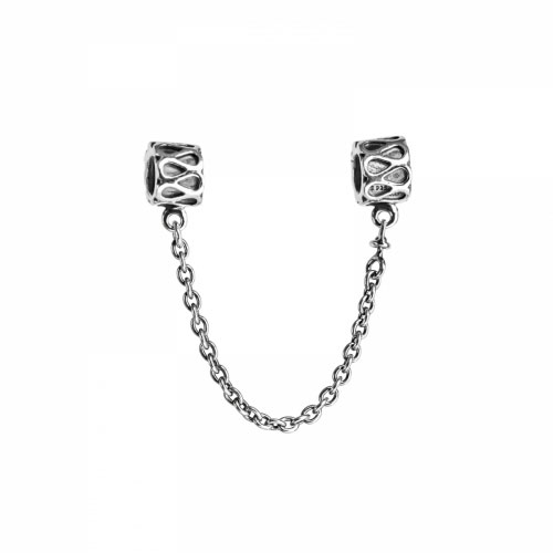 Pandora Silver Detailed Safety Chain 790315-05