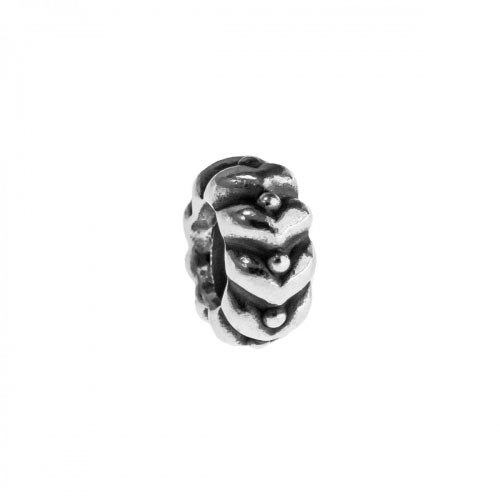 Pandora Silver Heart and Spot Spacer Charm 790450
