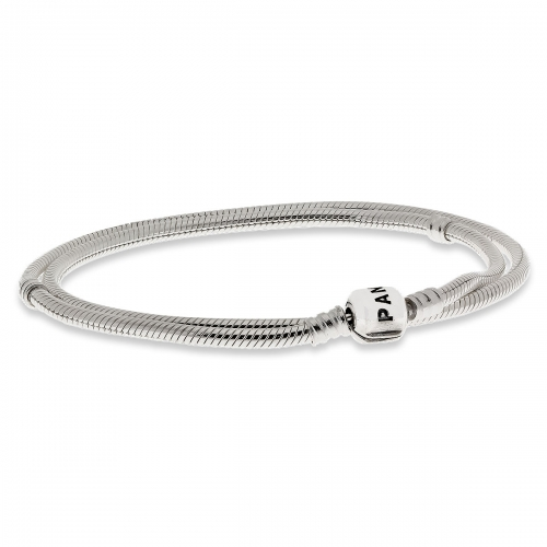 Pandora Silver Necklace With Barrel Clasp 590702HV