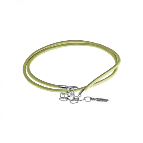 Pandora Lime Green Leather Necklace 590397LG-45
