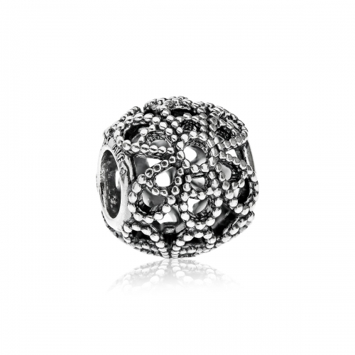 Pandora Openwork Roses Silver Charm 791282