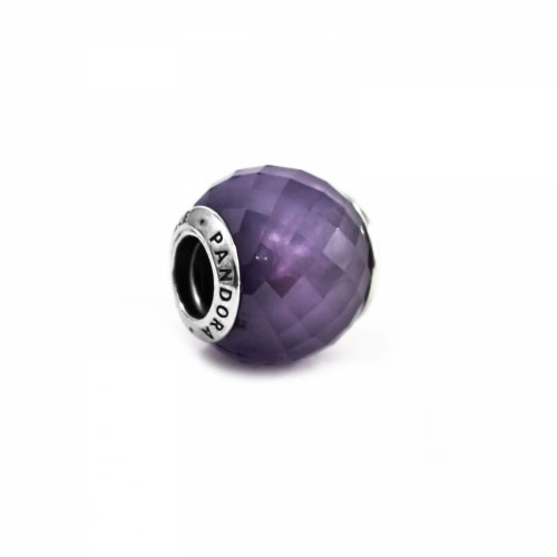 Pandora Purple Petite Silver & Purple CZ Faceted Charm 791499ACZ