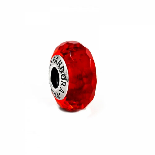 Pandora Red Faceted Murano Glass Charm 791066